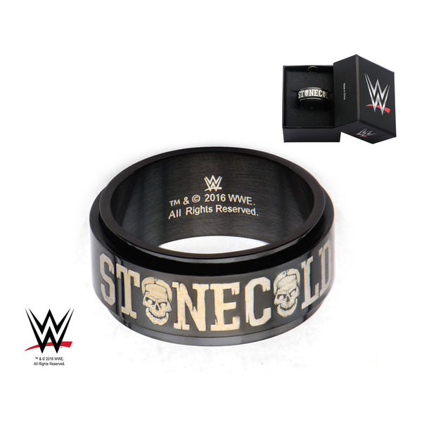 WWE STONE COLD BLACK IP RING