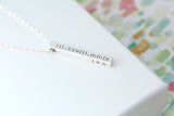 4 sided bar necklace {sterling silver}