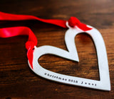open heart ornament