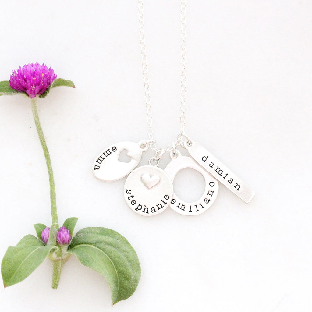 wildflower love necklace {sterling silver or bronze}