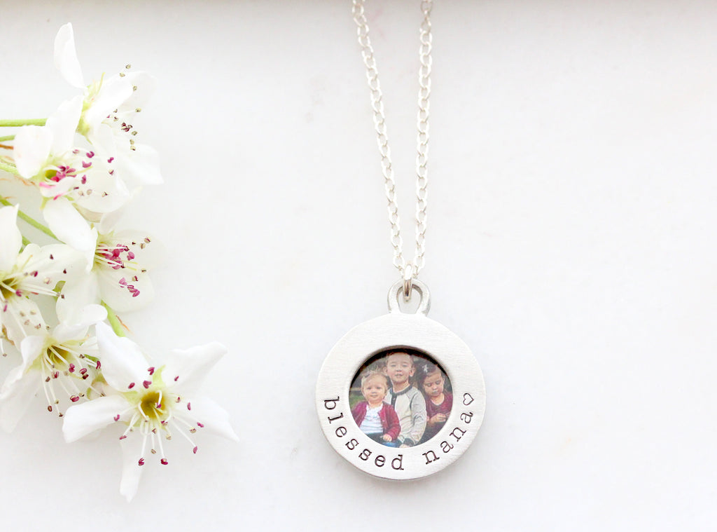little round photo locket