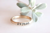 stackable name rings {10K yellow gold}