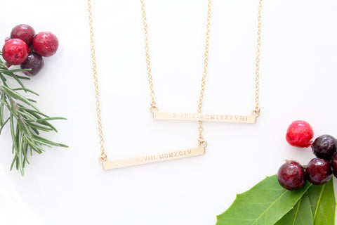 roman numerals necklace {silver or gold}