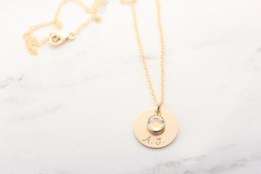 sparkle drop necklace {sterling silver or gold}