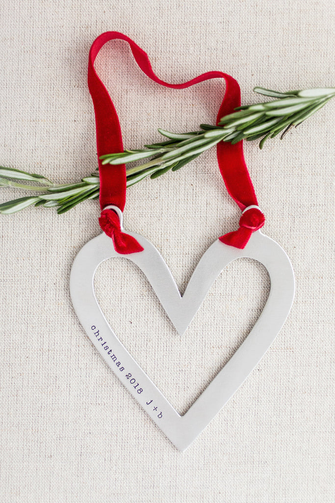 sculpted heart ornament