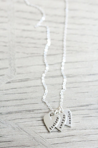 sculpted heart necklace