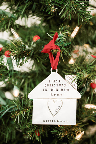 """home is where the heart is"" ornament"