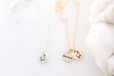 llama necklace {silver & gold}