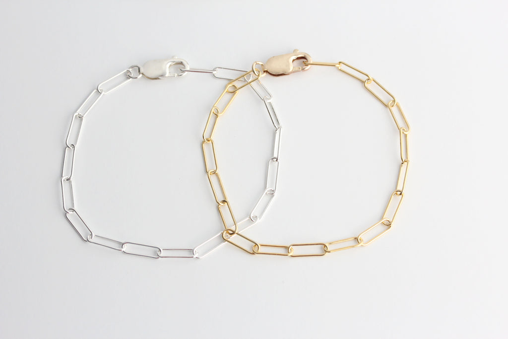 paperclip chain bracelet {silver or gold}