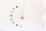 tiny rainbow necklace {silver & gold}