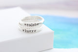 name ring + dainty bead ring         {set of 2 or more}