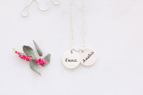side by side name necklace