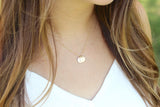 tiny initials {silver or gold}