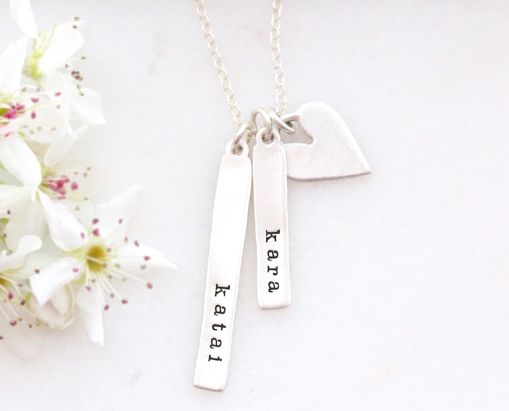 sculpted vertical bar necklace