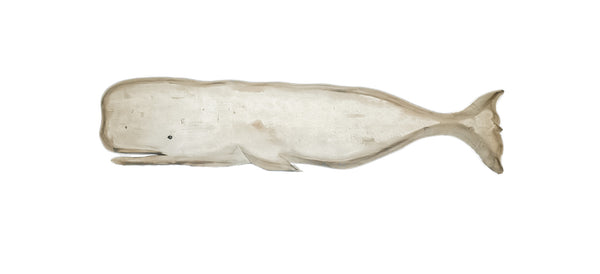 "Rustic Whale Carving - 48"" Wall Mounted"