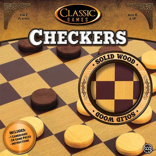Classic Games - Wood Checkers