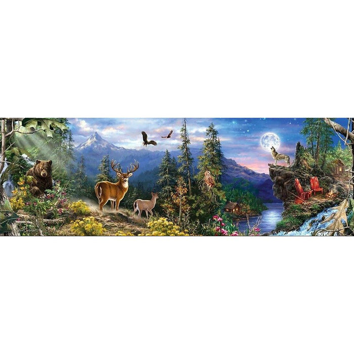"Puzzle: Realtree - Wildlife Landscape 13"" x 39"" Panoramic, 1000 Pieces"