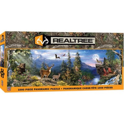 "Puzzle: Realtree - Wildlife Landscape 13"" x 39"" Panoramic, 1000 Pieces-LVLUP GAMES"