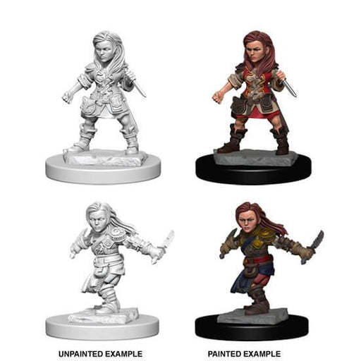 D&D Nolzur's Marvelous Miniatures:  Halfling Female Rogue-LVLUP GAMES