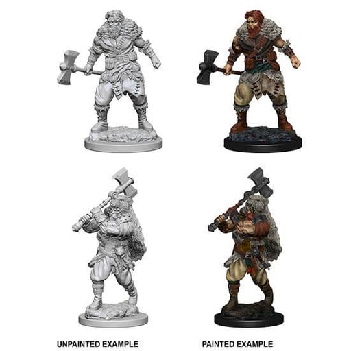 D&D Nolzur's Marvelous Miniatures:  Human Male Barbarian -LVLUP GAMES