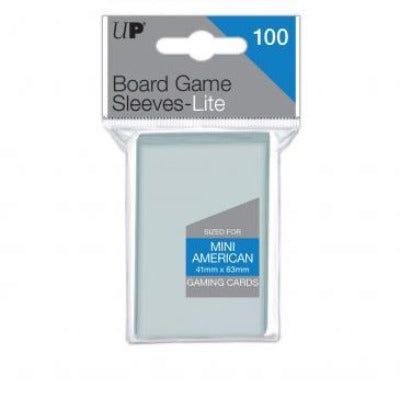 Ultra Pro Lite: Mini American 41mm x 63mm Sleeves, 100ct Clear-LVLUP GAMES