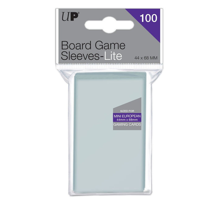 Ultra Pro Lite: Mini European 44mm x 68mm Sleeves, 100ct Clear-LVLUP GAMES