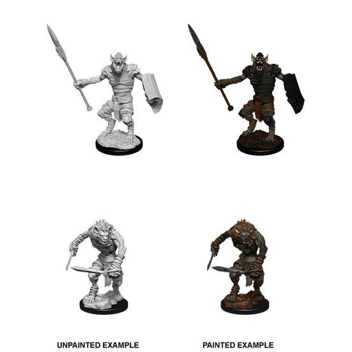 D&D Nolzur's Marvelous Miniatures: Gnoll & Gnoll Flesh Gnawer-LVLUP GAMES
