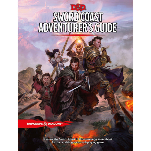 D&D (5th Edition) Sword Coast Adventurer's Guide Hardcover RPG Book-LVLUP GAMES