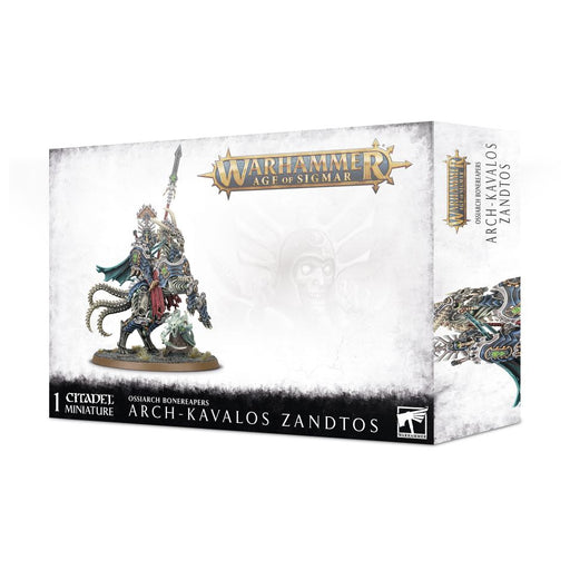 Warhammer Age of Sigmar: Ossiarch Bonereapers - Arch-Kavalos Zandtos Dark Lance of Ossia