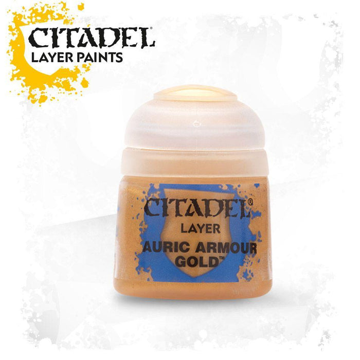 Citadel Paint: Layer - Auric Armour Gold (12ml)-LVLUP GAMES