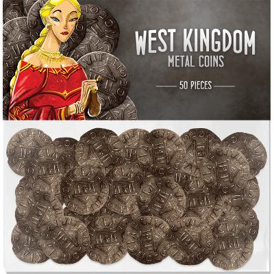 Architects of the West Kingdom - Metal Coins (50pc)-LVLUP GAMES