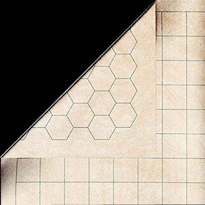 "Chessex RPG Mat: Double-Sided 1"" Hex/Square-Battle Mat, 23.5"" x 26""-LVLUP GAMES"