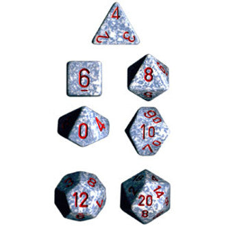 Chessex Dice: Speckled Colours, 7-Piece Sets-Air-LVLUP GAMES
