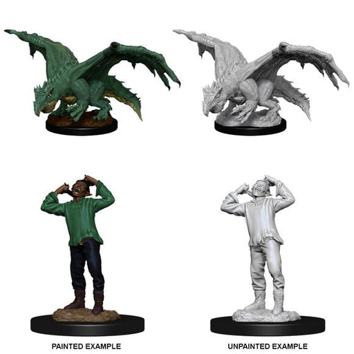 D&D Nolzur's Marvelous Miniatures:  Green Dragon Wyrmling-LVLUP GAMES