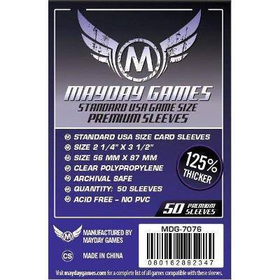 Mayday: Soft Sleeves - Standard USA 56x87mm, Clear 100ct.-LVLUP GAMES