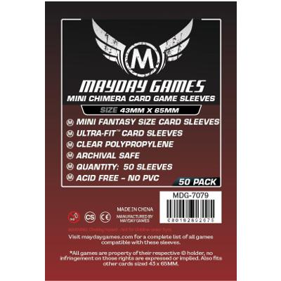 Mayday: Premium Soft Sleeves - Mini Chimera 43x65mm, Clear 50ct.-LVLUP GAMES