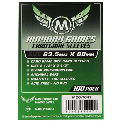 Mayday: Standard Soft Sleeves - Standard Size 63.5x88mm, Clear 100ct.-LVLUP GAMES