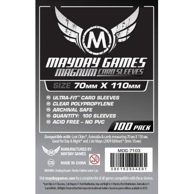 "Mayday: Standard Soft Sleeves - ""Lost Cities"" Card Sleeves 70x110mm, Clear 100ct.-LVLUP GAMES"