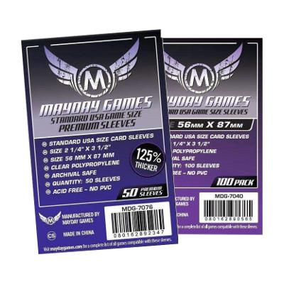 Mayday: Soft Sleeves - Premium USA 56x87mm, Clear 50ct.-LVLUP GAMES