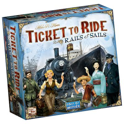 Ticket To Ride: Rails And Sails-LVLUP GAMES