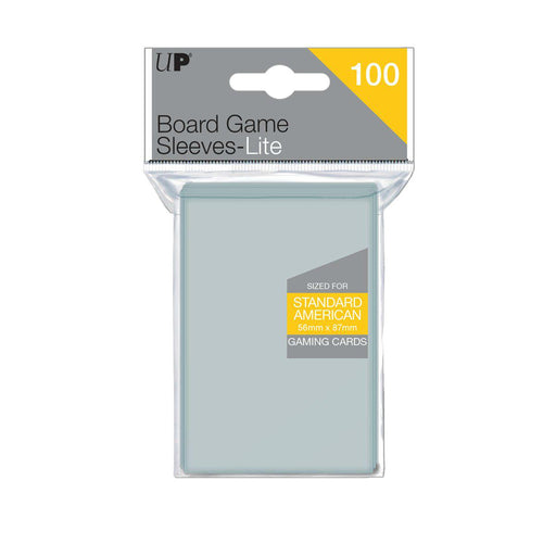 Ultra Pro Lite: Standard American 56mm x 87mm Sleeves, 100ct Clear-LVLUP GAMES