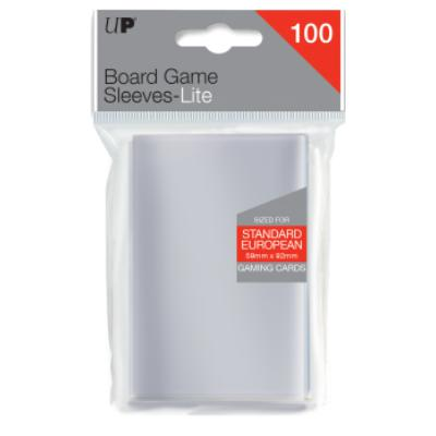 Ultra Pro Lite: Standard European 59mm x 92mm Sleeves, 100ct Clear-LVLUP GAMES