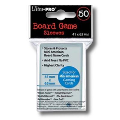 Ultra Pro: Mini American 41mm x 63mm Sleeves, 50ct Clear-LVLUP GAMES