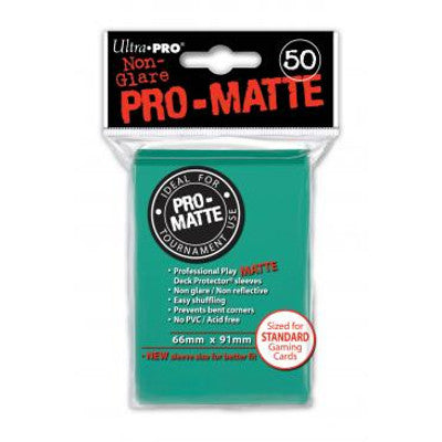 Ultra Pro: Pro-Matte Standard Card 66mm x 91mm Sleeves, 50ct Aqua-LVLUP GAMES