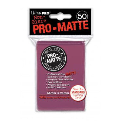 Ultra Pro: Pro-Matte Standard Card 66mm x 91mm Sleeves, 50ct Blackberry-LVLUP GAMES