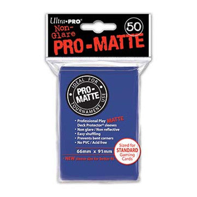 Ultra Pro: Pro-Matte Standard Card 66mm x 91mm Sleeves, 50ct Blue-LVLUP GAMES
