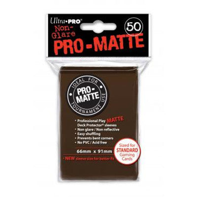Ultra Pro: Pro-Matte Standard Card 66mm x 91mm Sleeves, 50ct Brown-LVLUP GAMES