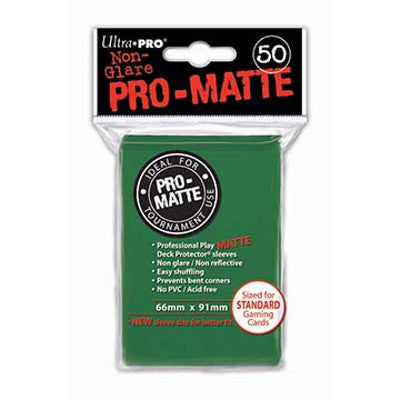 Ultra Pro: Pro-Matte Standard Card 66mm x 91mm Sleeves, 50ct Green-LVLUP GAMES