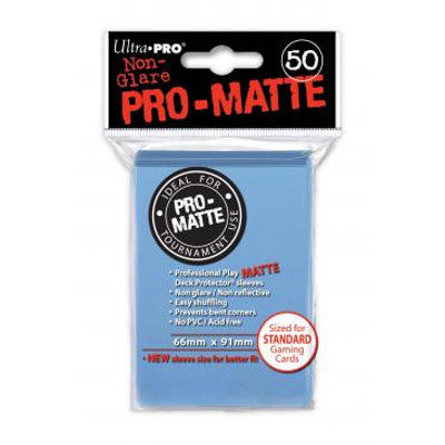 Ultra Pro: Pro-Matte Standard Card 66mm x 91mm Sleeves, 50ct Light Blue-LVLUP GAMES