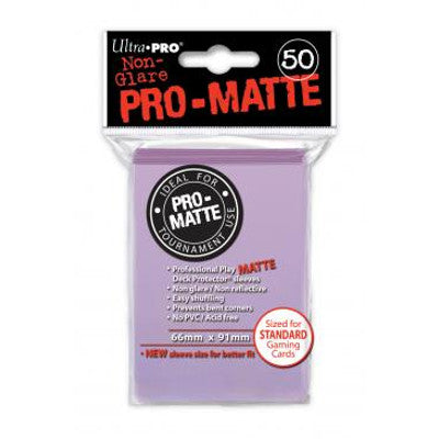 Ultra Pro: Pro-Matte Standard Card 66mm x 91mm Sleeves, 50ct Lilac-LVLUP GAMES